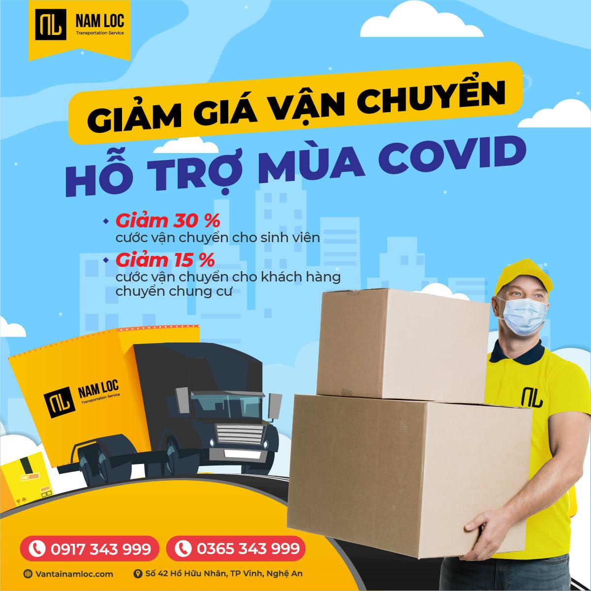 ƯU ĐÃI: Giảm giá vận chuyển hỗ trợ mùa dịch | Vận tải Nam Lộc