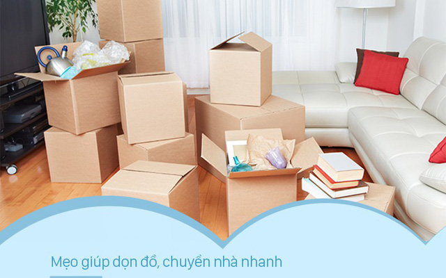 Bí quyết chuyển nhà nhanh gọn trong một ngày cho mọi gia đình